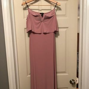 Forever 21 Dresses - Mauve off the shoulder maxi dress